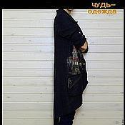 Одежда ручной работы. Ярмарка Мастеров - ручная работа Пальто-жакет льняной. Handmade.