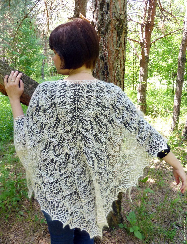 Blossom Shawl. Hand Knitting. Shawl for Wedding, Knitted Shawl ...