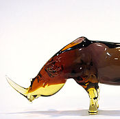 Для дома и интерьера handmade. Livemaster - original item Interior figurine made of colored glass Rhino, Karkadann. Handmade.