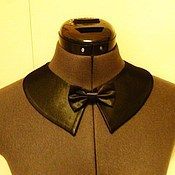 Украшения handmade. Livemaster - original item The collar is detachable universal / satin black. Handmade.
