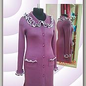 """Одежда ручной работы. Ярмарка Мастеров - ручная работа Кардиган вязаный """"Королевская сирень"""". Handmade."""