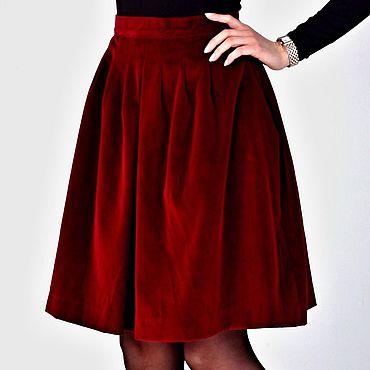 """Одежда ручной работы. Ярмарка Мастеров - ручная работа Бархатная """"Италия"""" юбка. Handmade."""