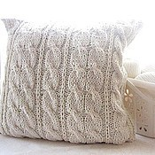 Для дома и интерьера ручной работы. Ярмарка Мастеров - ручная работа Наволочка (Чехол) на диванную подушку цвета экрю. Handmade.