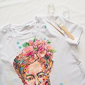 Одежда ручной работы. Ярмарка Мастеров - ручная работа Футболка для беременной Фридуча. Handmade.