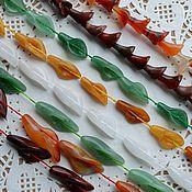 """Бусины ручной работы. Ярмарка Мастеров - ручная работа Бусины """"Каллы"""" из разных камней, 3 размера.. Handmade."""