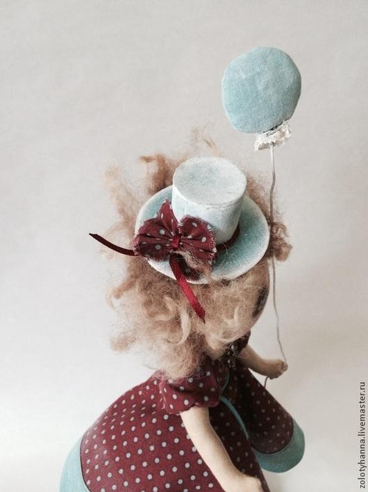 Человечки ручной работы. Ярмарка Мастеров - ручная работа. Купить Горошина. Handmade. Кукла тамбов, на счастье, шляпа, хлопок, пуговки