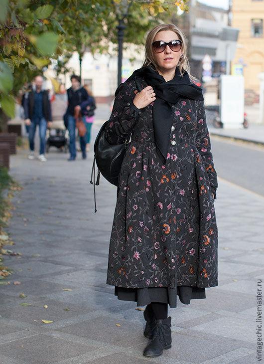 Верхняя одежда ручной работы. Ярмарка Мастеров - ручная работа. Купить Кафтан женщины, способной на любовь art.144b. Handmade.