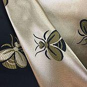 Ткани ручной работы. Ярмарка Мастеров - ручная работа Жаккард Золотые пчелы. Handmade.
