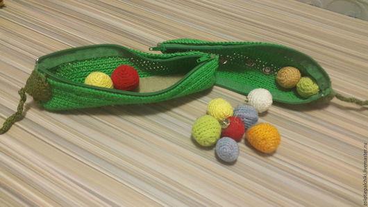 Развивающие игрушки ручной работы. Ярмарка Мастеров - ручная работа. Купить стручки гороха. Handmade. Комбинированный, вязание на заказ