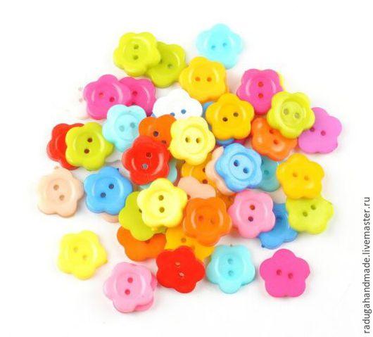 """Шитье ручной работы. Ярмарка Мастеров - ручная работа. Купить Пуговицы пластиковые """"Цветочки"""". Handmade. Комбинированный, пуговица, пуговицы для игрушек"""