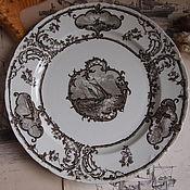 Винтаж handmade. Livemaster - original item Antique plate, Brown-Westhead, Moore & Co, 1890-1904. Handmade.