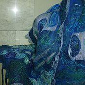 Аксессуары ручной работы. Ярмарка Мастеров - ручная работа шарф валяный  Тайна сине-зелёного. Handmade.