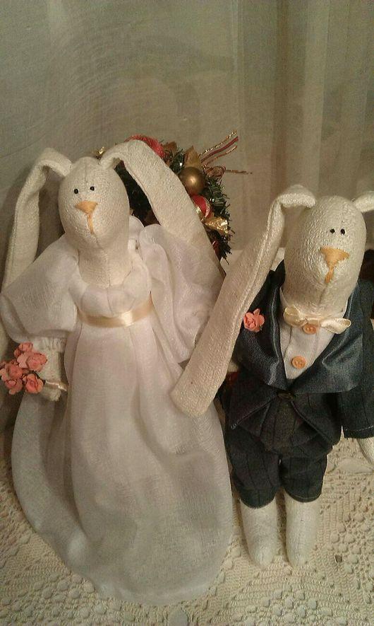 Куклы Тильды ручной работы. Ярмарка Мастеров - ручная работа. Купить Свадебные Зайцы в стиле Тильда. Handmade. Тильда, игрушка