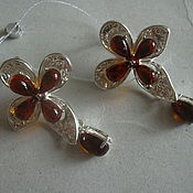 Украшения handmade. Livemaster - original item Earrings JASMINE AMBER925 silver. Handmade.