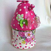 """Для дома и интерьера ручной работы. Ярмарка Мастеров - ручная работа """"Розовая сказка"""", шкатулка для девочки. Handmade."""