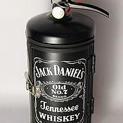 Оформление бутылок ручной работы. Ярмарка Мастеров - ручная работа Огнетушитель бар Jack Daniel's. Handmade.