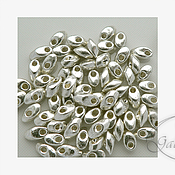 Материалы для творчества ручной работы. Ярмарка Мастеров - ручная работа Magatama Long №1051 сребро метализированный 10 гр. Handmade.