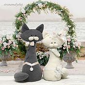 Куклы и игрушки handmade. Livemaster - original item Cats for the wedding. Author`s toy. Interior toys.. Handmade.