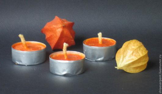 Натуральные свечи ручной работы в гильзах