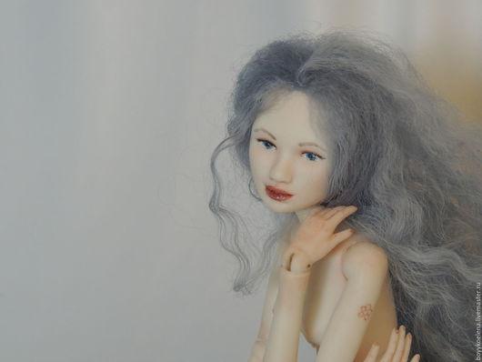 Коллекционные куклы ручной работы. Ярмарка Мастеров - ручная работа. Купить Фарфор. Голубая Русалка (Камилла). Handmade. Голубой, шарнирка