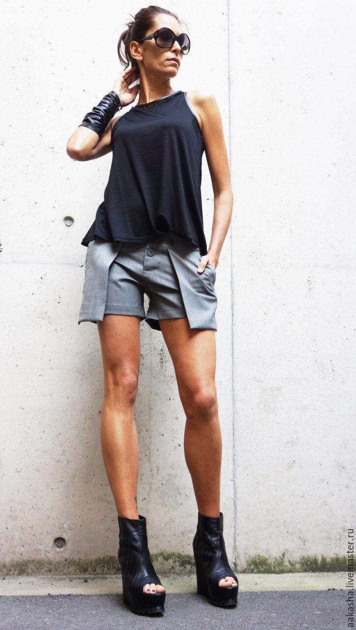 стильные шорты из холодной шерсти,экстравагантный стиль
