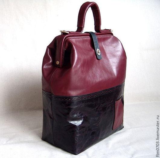 Женские сумки ручной работы. Ярмарка Мастеров - ручная работа. Купить Саквояж дорожный. Handmade. Бордовый, вишневый цвет