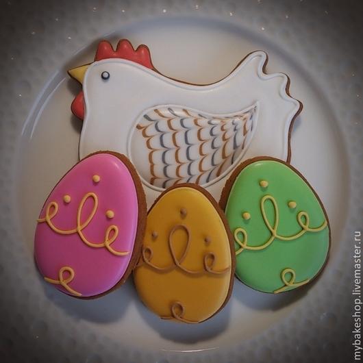 """Кулинарные сувениры ручной работы. Ярмарка Мастеров - ручная работа. Купить """"Курочка"""". Handmade. Коричневый, зеленый, сувенир, пасхальные яйца"""