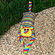 """Игрушки животные, ручной работы. Заказать Игрушка-подушка """"Радужный кот"""" яркие полоски. Мария Леуш (catavisha). Ярмарка Мастеров."""