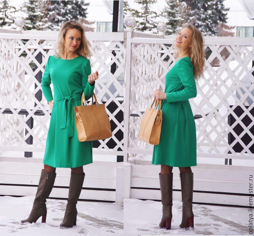 Платье осень трикотаж купить