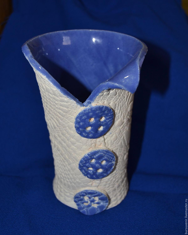 Ваза керамическая кружева