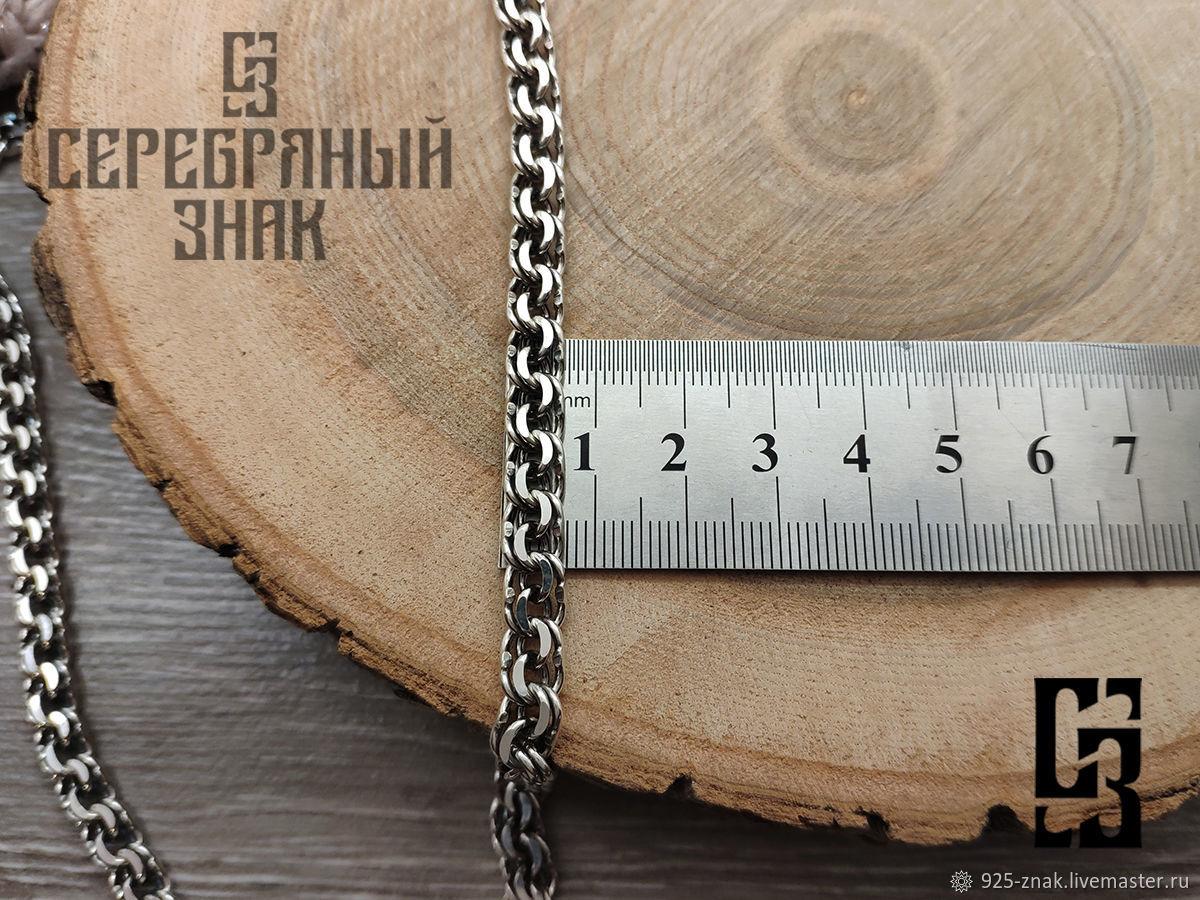 Bismarck chain 40 grams, 7mm. 925 sterling silver. art. .1094453, Chain, St. Petersburg,  Фото №1