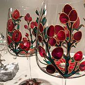 Посуда handmade. Livemaster - original item Wine glasses with painting. Handmade.