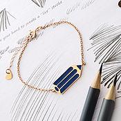 Украшения handmade. Livemaster - original item Pencil silver bracelet. Handmade.