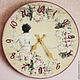Часы для дома ручной работы. Ярмарка Мастеров - ручная работа. Купить Часы настенные Мечта. Handmade. Розовый, часы настенные