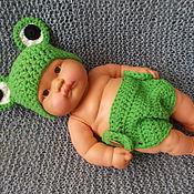 """Работы для детей, ручной работы. Ярмарка Мастеров - ручная работа Комплект для фото сессии новорожденных """"Лягушонок"""". Handmade."""