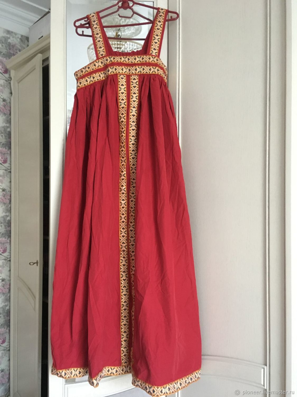 Russian Russian style Sundress Christmas folk costume vintage, Vintage clothing, St. Petersburg,  Фото №1