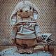 Мишки Тедди ручной работы. Ярмарка Мастеров - ручная работа. Купить Ванильный малыш Веня.. Handmade. Заяц друзья тедди
