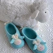 """Обувь ручной работы. Ярмарка Мастеров - ручная работа тапочки детские """"мамина радость"""". Handmade."""