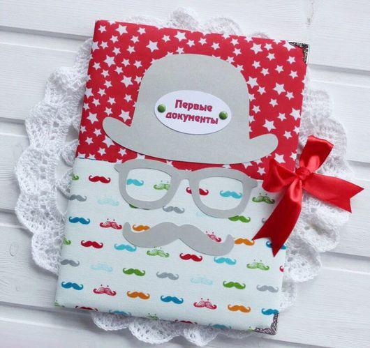 Подарки для новорожденных, ручной работы. Ярмарка Мастеров - ручная работа. Купить Папка для свидетельства о рождении. Handmade. Папка для свидетельства