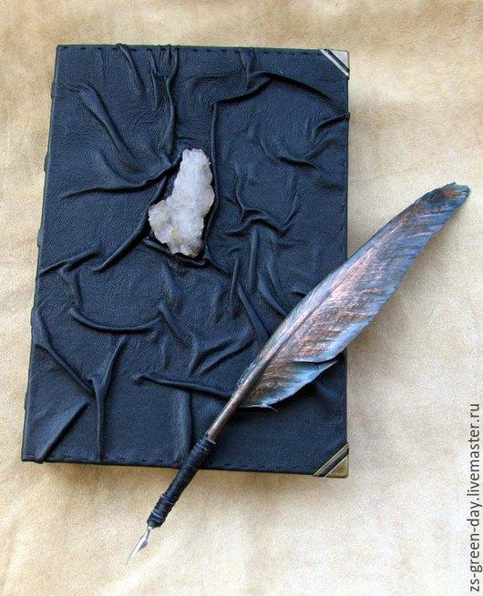 Блокноты ручной работы. Ярмарка Мастеров - ручная работа. Купить Книга теней Горный хрусталь. Handmade. Черный, дизайнерская бумага