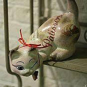 Для дома и интерьера handmade. Livemaster - original item Caramels, bonbons et chocolats - (ceramic cat). Handmade.