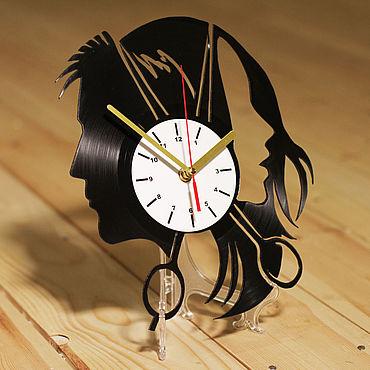 """Для дома и интерьера ручной работы. Ярмарка Мастеров - ручная работа Часы """"Для парикмахерской"""". Handmade."""