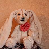 Куклы и игрушки ручной работы. Ярмарка Мастеров - ручная работа Зайка белоснежка. Handmade.