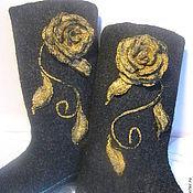 """Обувь ручной работы. Ярмарка Мастеров - ручная работа Валенки """" Роза золотая"""". Handmade."""