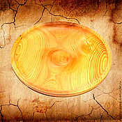 Тарелки ручной работы. Ярмарка Мастеров - ручная работа Деревянная тарелка 29см, блюдо из Cибирского кедра - ручная работа #T4. Handmade.