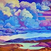 """Картины и панно ручной работы. Ярмарка Мастеров - ручная работа """"Горы Небесные"""" картина маслом на холсте. Handmade."""