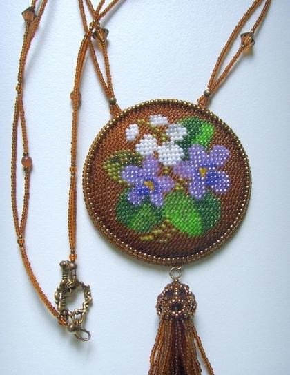 """Кулоны, подвески ручной работы. Ярмарка Мастеров - ручная работа Кулон """"Весенние цветы"""". Handmade."""