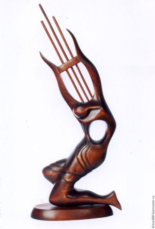 """Статуэтки ручной работы. Ярмарка Мастеров - ручная работа. Купить Статуэтка """"Лира"""". Handmade. Коричневый, абстракция, оригинальный подарок, липа"""