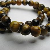 Материалы для творчества handmade. Livemaster - original item Tiger eye bead, 6mm.. Handmade.
