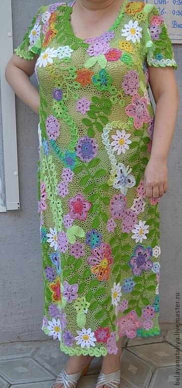 """Большие размеры ручной работы. Ярмарка Мастеров - ручная работа Платье""""Летняя поляна"""". Handmade."""